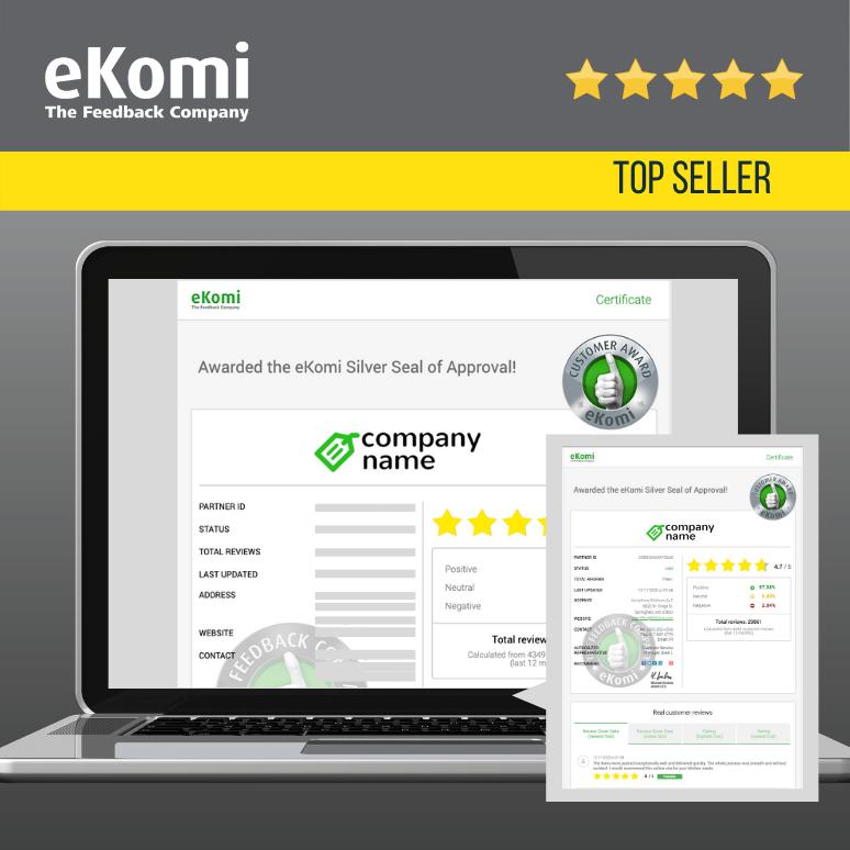 eKomi Certificate Page EUR