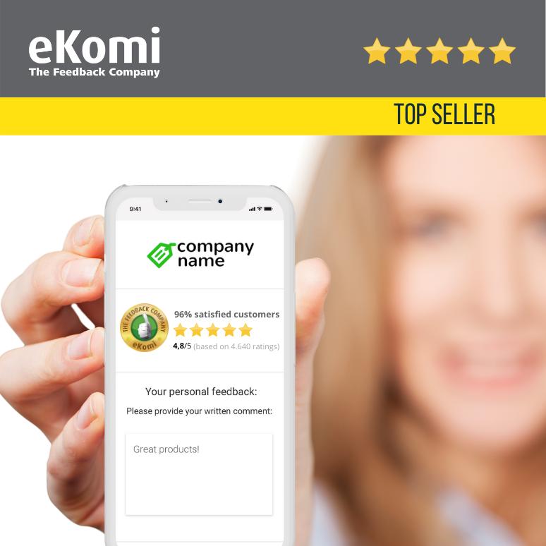 eKomi Mobile-optimized Responsive Widget EUR