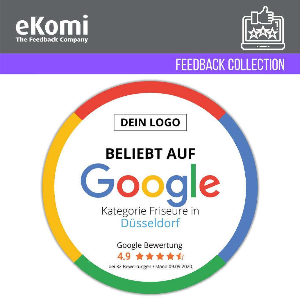 """Personalisierte """"Beliebt auf Google"""" Aufkleber EUR"""