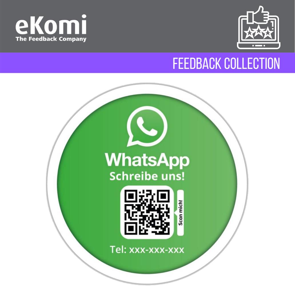 Personalisierte WhatsApp Aufkleber mit QR Code EUR