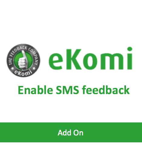 Enable SMS feedback package