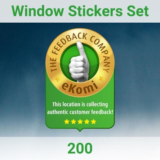 eKomi Stickers Set 200