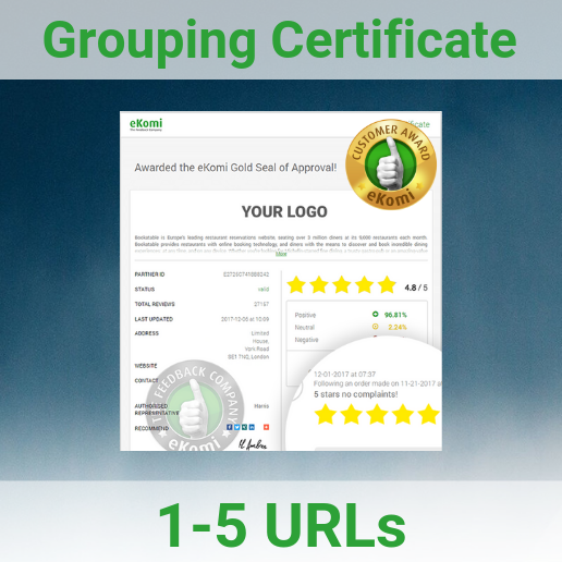 Grouping Certificate Page 1-5