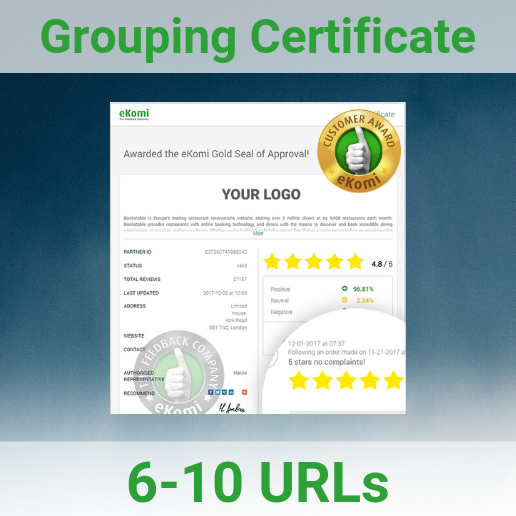 Grouping Certificate Page 6-10
