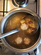 Суп с фасолью консервированной и фрикадельками - фото приготовления рецепта шаг 7