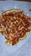 Пицца без сыра, без дрожжей на тесте из ржаной муки - фото приготовления рецепта шаг 8