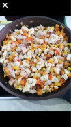 Жареные баклажаны с очень вкусной начинкой - фото приготовления рецепта шаг 4