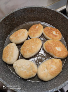 пирожки с печенью жаренные на сковороде - фото приготовления рецепта шаг 5