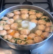 Куриный суп с фрикадельками - фото приготовления рецепта шаг 6