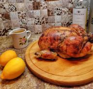 курица запечённая с лимонами или обручальная - фото приготовления рецепта шаг 6