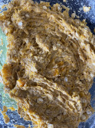 Тыквенный пирог БЕЗ САХАРА БЕЗ ГЛЮТЕНА БЕЗ ДРОЖЖЕЙ - фото приготовления рецепта шаг 7