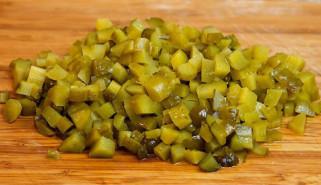 Салат из куриной грудки и шампиньонов - фото приготовления рецепта шаг 6