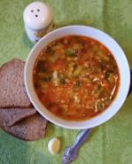 Вегетарианский суп из чечевицы - фото приготовления рецепта шаг 8