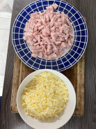 блины с ветчиной и сыром - фото приготовления рецепта шаг 6