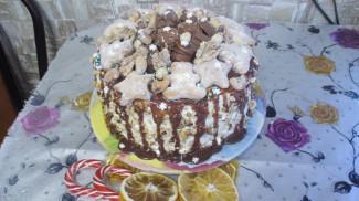 Торт с черносливом и сметанным кремом - фото приготовления рецепта шаг 9