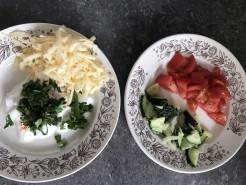 ПП Лаваш с сыром и овощами - фото приготовления рецепта шаг 1
