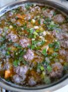 Суп с фрикадельками и рисом - фото приготовления рецепта шаг 6