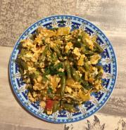 Стручковая фасоль с яйцами - фото приготовления рецепта шаг 5