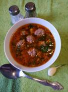 Томатный суп с фрикадельками - фото приготовления рецепта шаг 7