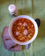 Суп с фрикадельками и кабачками - фото приготовления рецепта шаг 7