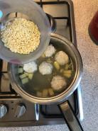 Суп с фрикадельками с вермишелью - фото приготовления рецепта шаг 4
