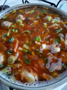 Суп с фрикадельками и кабачками - фото приготовления рецепта шаг 6
