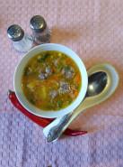 Суп с фрикадельками и рисом - фото приготовления рецепта шаг 7
