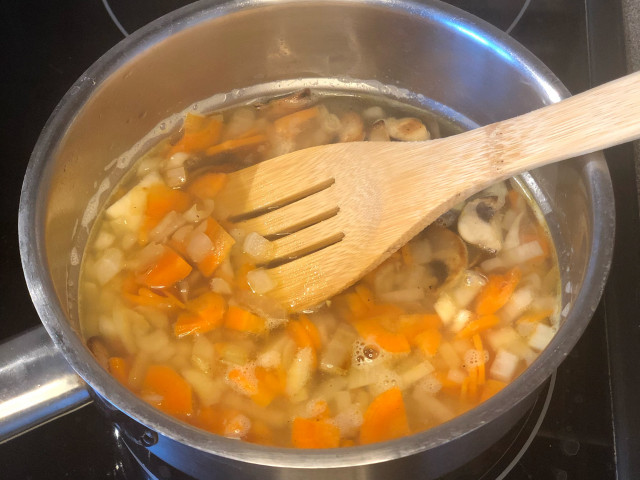 Грибной суп-бульон без картофеля