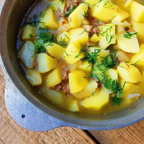Картошечка на костре