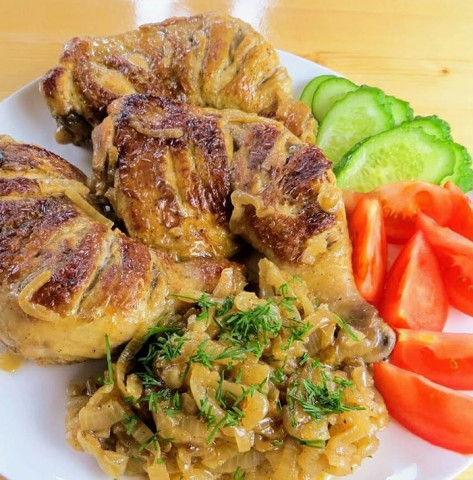 Курица со вкусом шашлыка на сковороде