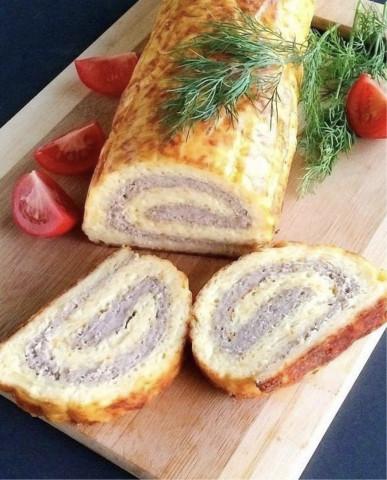 Яично-мясной рулет