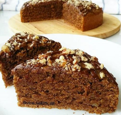 ПП-орехово-кофейный пирог