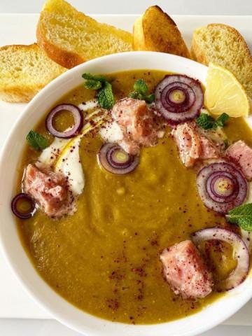 Суп из оранжевой чечевицы с тунцом по турецки