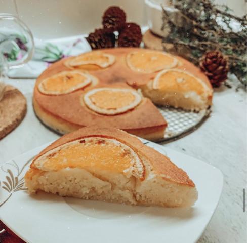 Апельсиновый кекс из манки 🍊