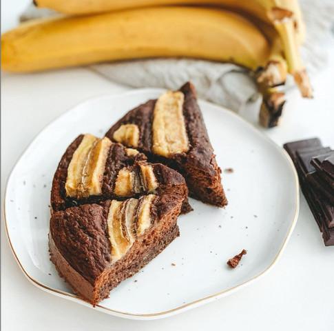 🖤🍌Шоколадно-банановый пирог