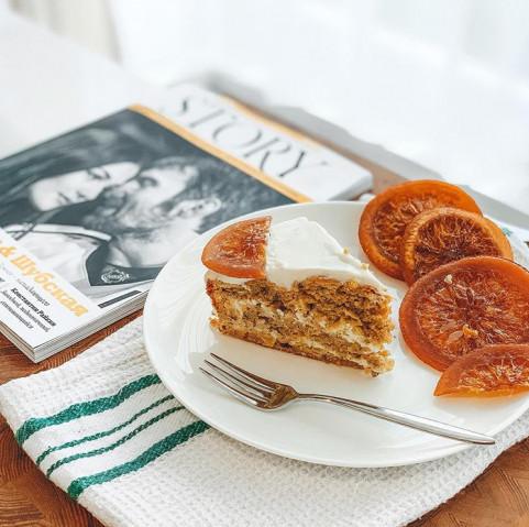 🍊Морковно- апельсиновый пирог