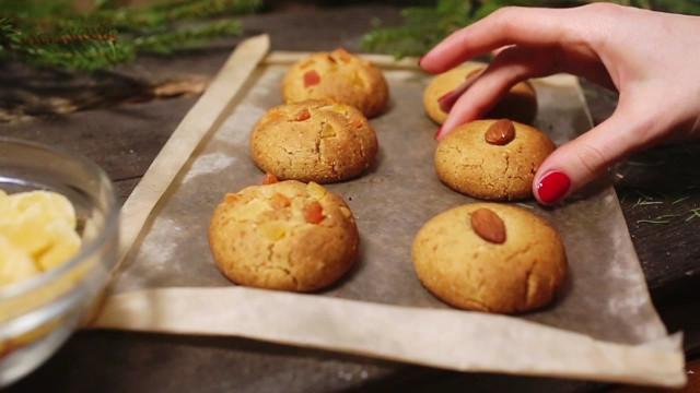 Домашнее миндальное печенье