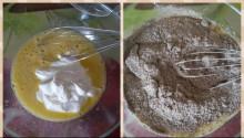 Шоколадный торт с вишней и сметанным кремом без глютена - фото приготовления рецепта шаг 4