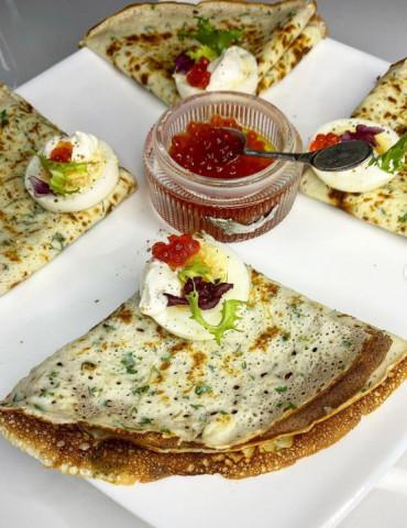 Идеальные сырные блинчики с зеленью