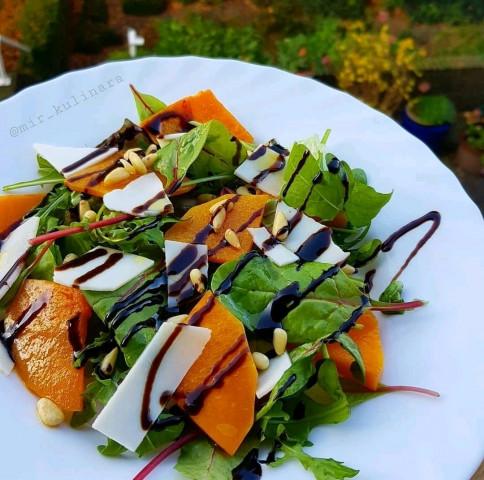 Салат с тыквой и сыром