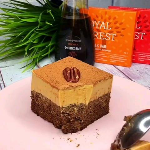 Шоколадный тортик ПП  без сахара