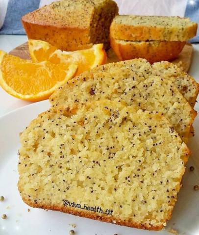 ПП-кекс с апельсином и маком