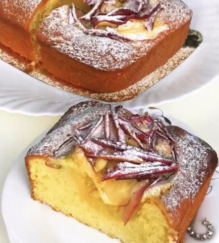 Имбирный кекс с яблоками 🤤