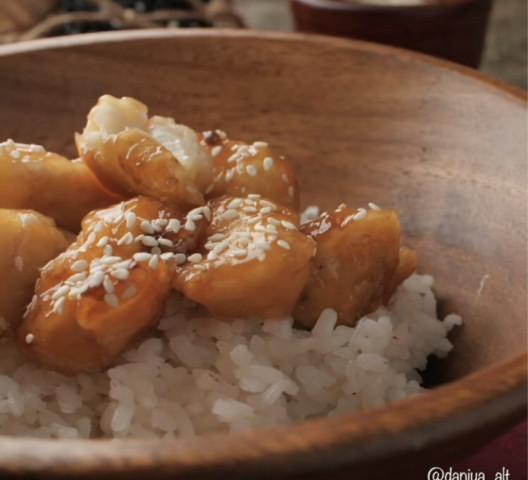 Курица в медовом соусе по китайски с рисом