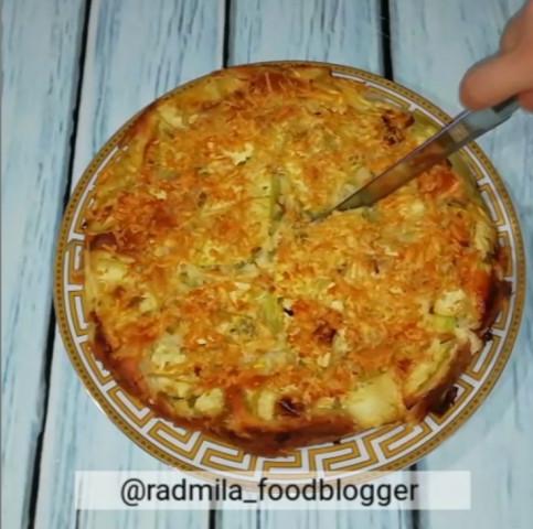Рецепт заливного кабачкового пирога