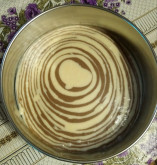 "Пирог ""Зебра"" 🦓😜😋 - фото приготовления рецепта шаг 4"