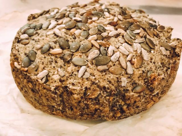 Хлеб из пшена и зеленой гречки без глютена