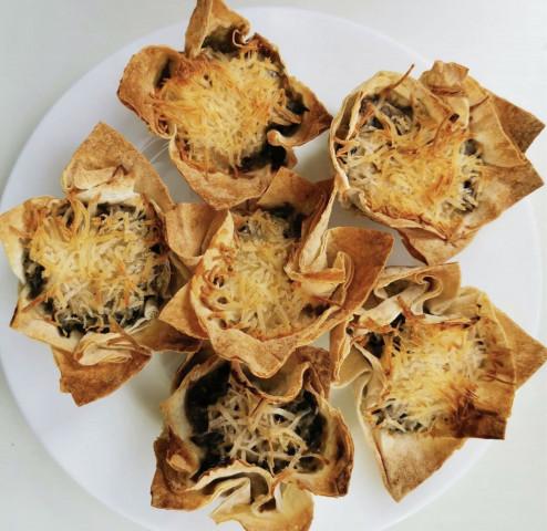 Корзиночки с грибами