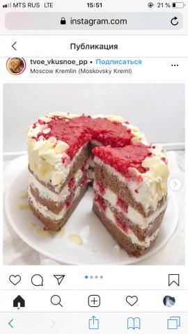 🌸ПП шоколадный торт с малиной🌸