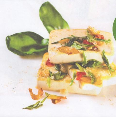 Хрустящий жареный тофу